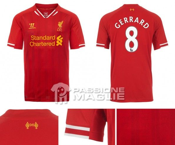 Liverpool prima maglia 2013-2014 Warrior