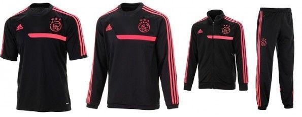 Linea allenamento da trasferta dell'Ajax 2013-2014