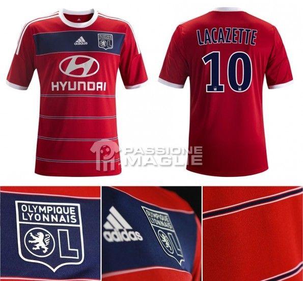 La seconda maglia del Lione 2013-2014