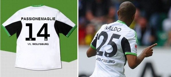 Nome numero divisa Wolfsburg 2013-2014 adidas