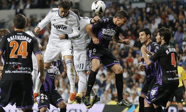 Partita Real Madrid-Valladolid Liga