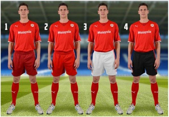Sondaggio Cardiff City pantaloncini home 2013-14