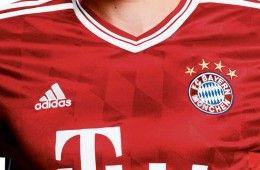 I rombi bavaresi di sfondo nella maglia del Bayern 2013-2014