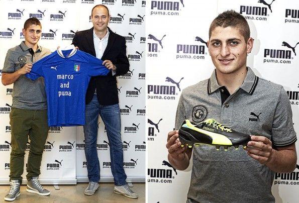 Marco Verratti e Andrea Rogg di Puma
