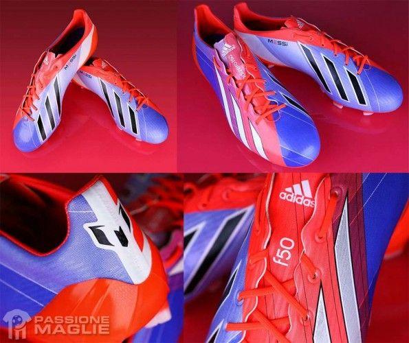 Scarpini F50 Messi viola-rosso