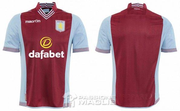 Maglia Aston Villa 2013-2014 Macron
