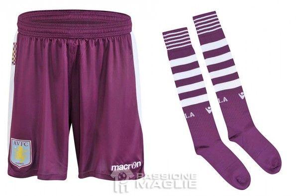 Calzoncini calzettoni kit Aston Villa trasferta 2013-2014