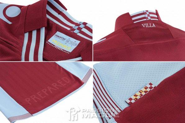 Dettagli kit home Aston Villa 2013-2014
