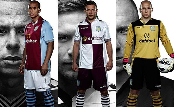 Divise ufficiali Aston Villa 2013-2014