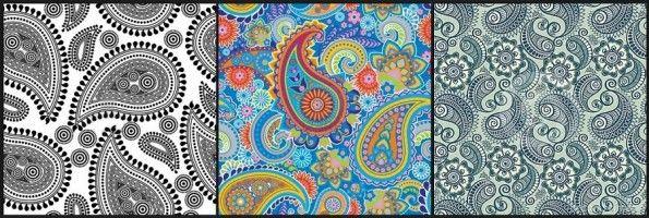 Esempi di tessuto Paisley