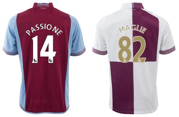 Font nome numeri Aston Villa 2013-2014