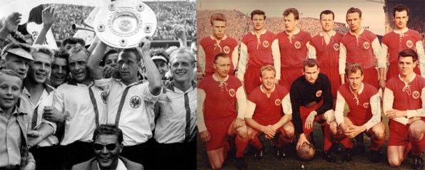 Il Francoforte vincitore del titolo 1958-59, e quello della finale di Coppa dei Campioni 1959-60