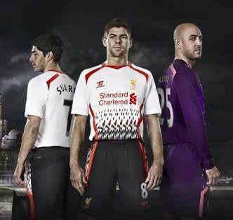 Liverpool away kit 13-14