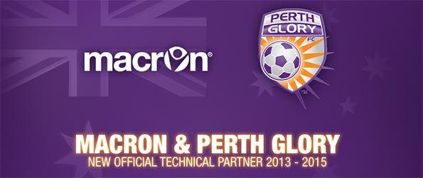 Macron sponsor tecnico Perth Glory