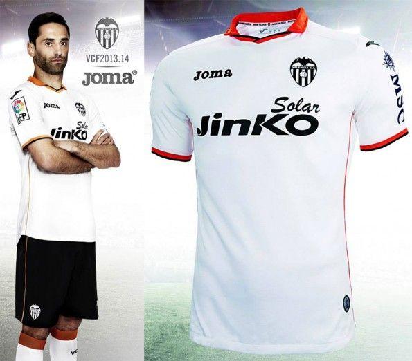 Prima maglia Valencia 2013-2014 Joma