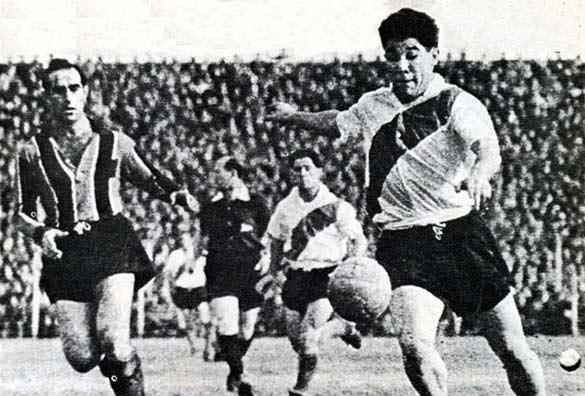 Omar Sivori con la maglia del River Plate