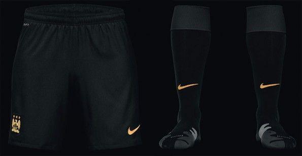 Pantaloncini calzettoni Manchester City away 2013-14