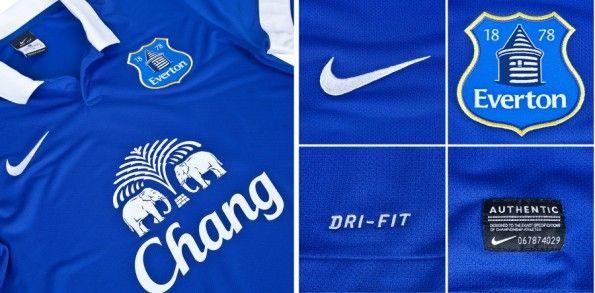 Dettagli casacca 2013-2014 Everton Nike