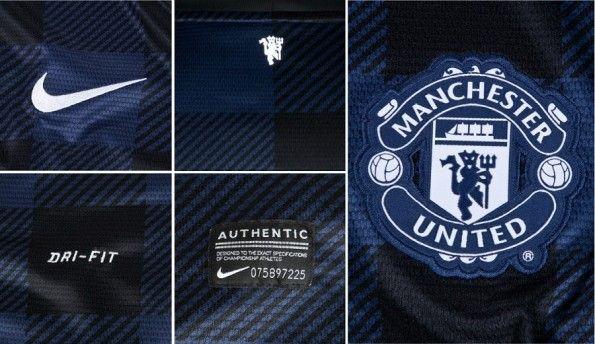 Dettagli maglia trasferta United 2013-14
