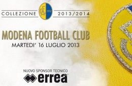 Erreà sponsor tecnico Modena