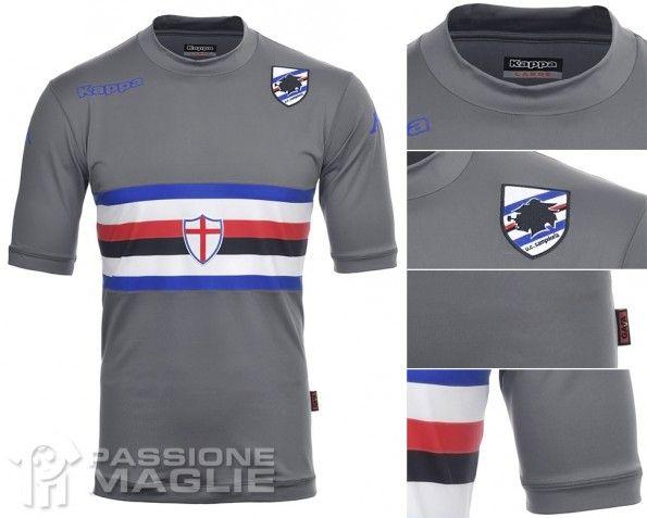 Maglia portiere Sampdoria grigia 2013-2014