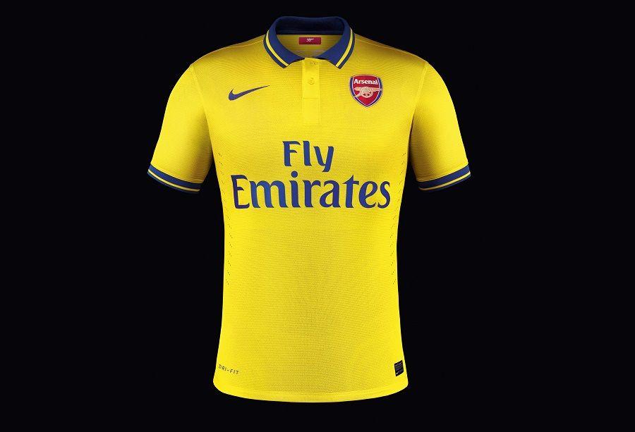 Maglia da trasferta Arsenal 2013/14