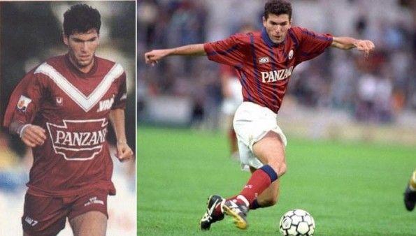 Zidane maglie Bordeaux primi anni 90