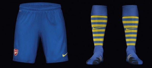 Pantaloncini calzettoni trasferta Arsenal 2013-2014