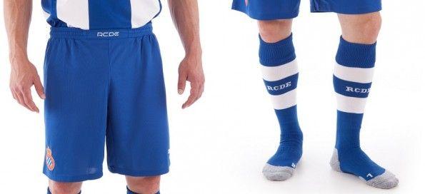 Pantaloncini calzettoni Espanyol home 2013-2014