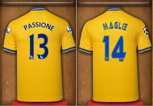 Font nome numeri Arsenal away 2013-14