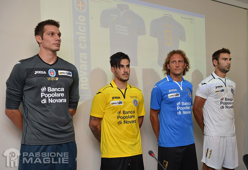 Presentazione kit Novara 2013-2014