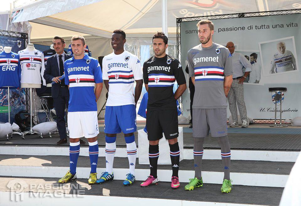 Presentazione kit Sampdoria 2013-14