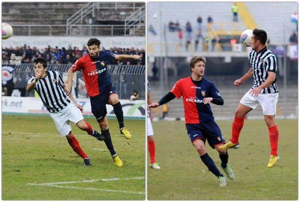 L'Ascoli 2013-14 con le calze rosse