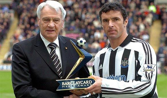 Bobby Robson e Gary Speed