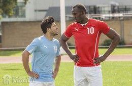 Sergio Agüero e Usain Bolt