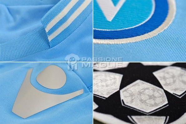 Dettagli kit home Napoli Champions 2013-14
