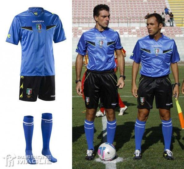 Kit arbitro 2013-2014 azzurro Diadora