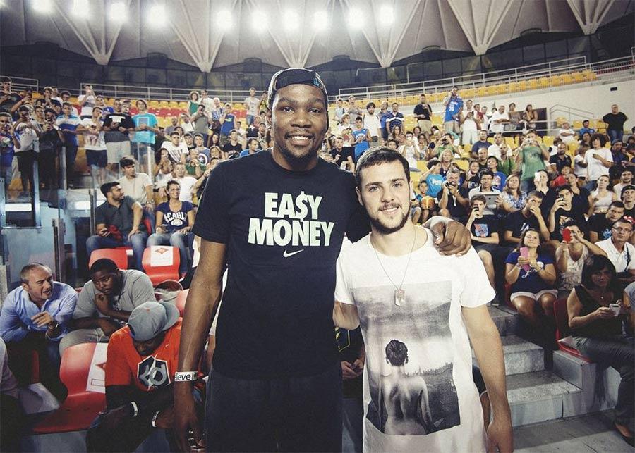 Kevin Durant e Mattia Destro a Roma