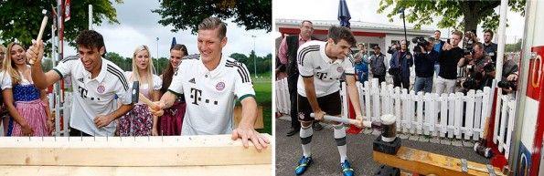 Javi Martinez e Schweinsteiger giocano in Baviera