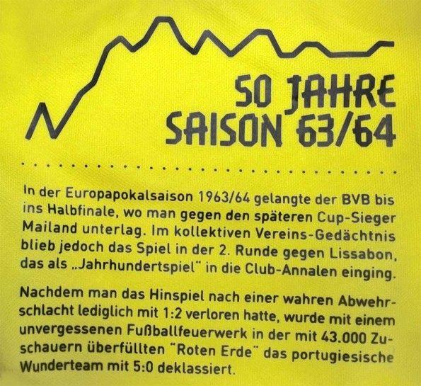 Dedica stagione 1963-64 maglia BVB