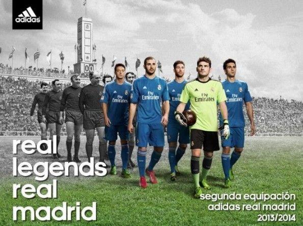 Ispirazione retrò seconda divisa Real Madrid 2013-2014