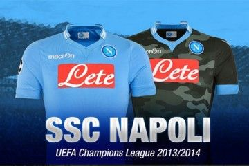 Kit Napoli-Macron Champions League 2013-14