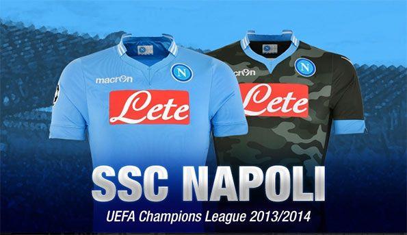 Kit Napoli-Macron Champions League 2013-14