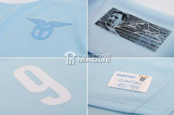 Particolari maglia Macron Lazio celebrativa Piola
