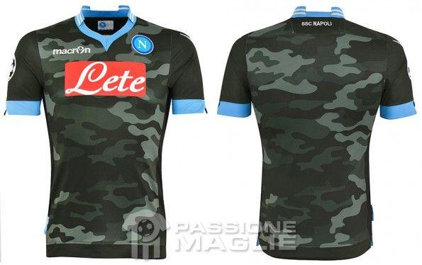 Seconda maglia Napoli mimetica Champions League 2013-14