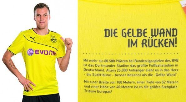 Dettaglio wintertrikot 2013 Borussia Dortmund