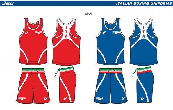 Divisa Italia boxe Asics