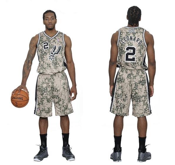 Divisa San Antonio Spurs mimetica 2013-14