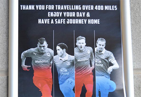 Manifesto accoglienza tifosi Everton