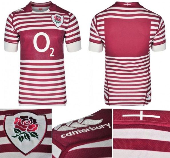Maglia away Inghilterra rugby 2014